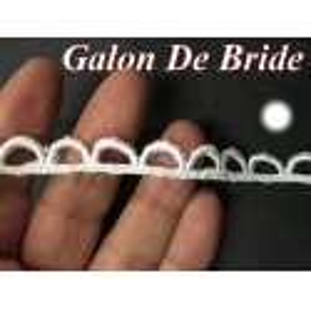 Galon Guipure A Bride Blanc A Coudre.