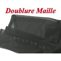 Doublure Maille Au Mètre En Couleur Noir Pour Vetements Tansparents Et confections.