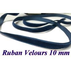 Ruban Velours en 10 mm Couleur Bleu indigo Pour vetements et Loisirs Créatifs