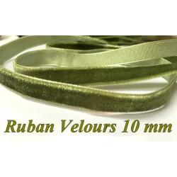 Ruban Velours en 10 mm Couleur Vert Tilleul Pour vetements et Loisirs Créatifs