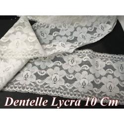Dentelle Lycra En 10 Cm Blanche Pour Lingerie Et Customisations.