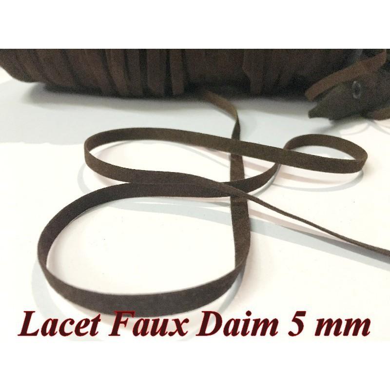 Ruban Lacet Faux daim En 10 MM Marron- choco - A Coudre Pour Loisirs Créatifs Et Décorations.