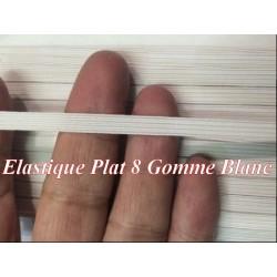 Elastique Plat 8 mm Noir ou Blanc X 50 Mètres, A Coudre