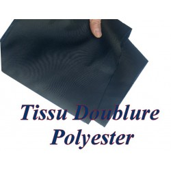Doublure Polyester Au Mètre En Tissu Bleu Marine En 150 Cm A Coudre Pour Robes, Manteaux Et Confections.