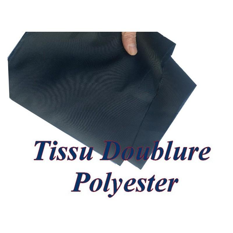 Doublure Polyester Au Mètre En Tissu Noir En 150 Cm A Coudre Pour Robes, Manteaux Et Confections.
