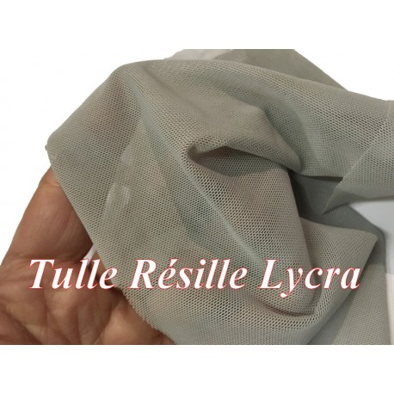 Tissu Résille Lycra Au Mètre En Couleur Gris A Coudre.