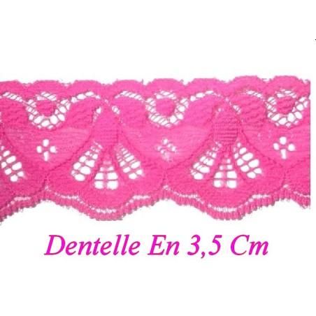 Dentelle au Mètre en 3.5 cm Fushia Fluo A Coudre