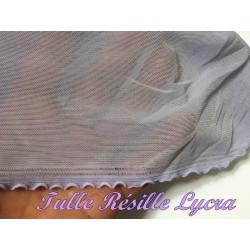 Tissu Résille Lycra au Mètre En Couleur Parme Pour Justaucorps.