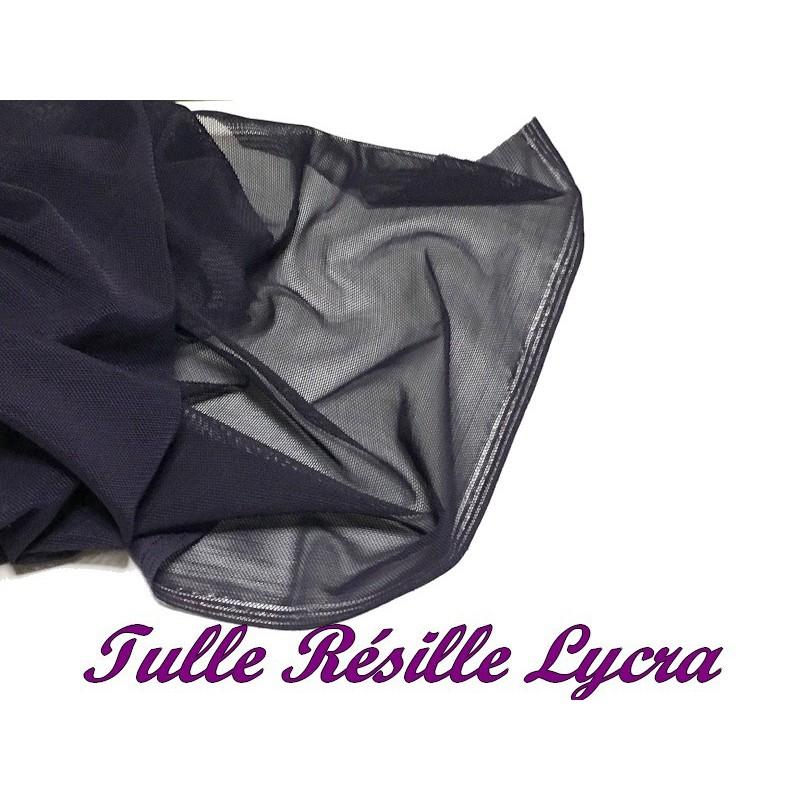 Tissu Résille Lycra au Mètre En Couleur violet Pour Justaucorps.