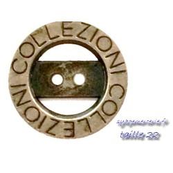 Bouton métal vieilli en taille 22 collezionne