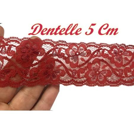 Dentelle A Coudre En 5 Cm  Rouge Bordeaux A Coudre Pour Loisirs Créatifs.