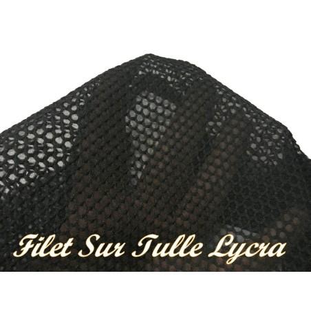 Tissu Filet Sur Tulle Résille Lycra Au Mètre Noir Pour Lingerie justaucorps