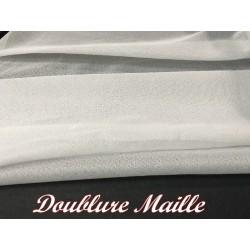 Doublure Maille Au Mètre En Couleur Noir Pour Vetements transparents Et confections.s