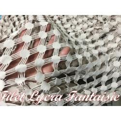 Tissu Filet Au Mètre En Lycra Beige En Grande Largeur, Lingerie Et Customisations.