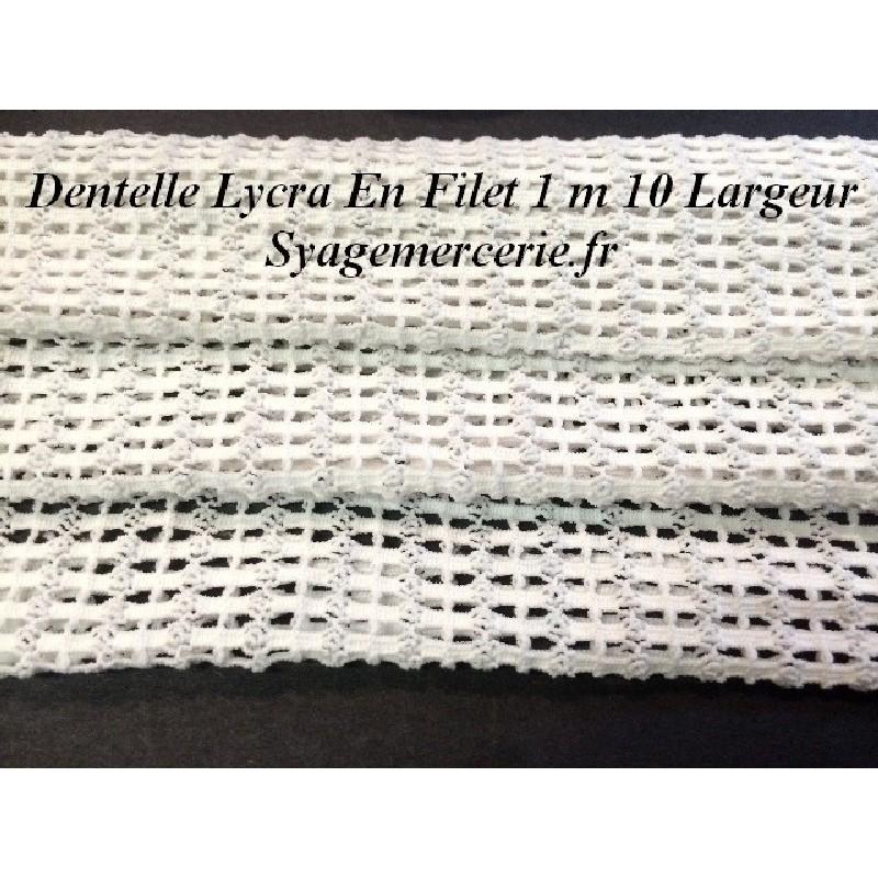 Filet Lycra Au Mètre En Couleur Blanc Pour Lingerie Et Customisations