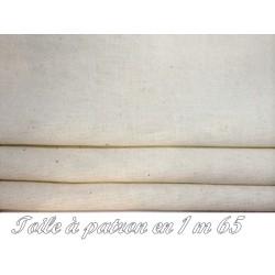 Tissu Toile A Patron Au Mètre Couleur Ecru En 1 Mètre 65 De Largeur Pour Patronnage Et Couture