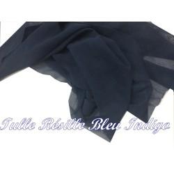 Tissu Résille Lycra Au Mètre en Couleur Bleu Indigo Pour Justaucorps.