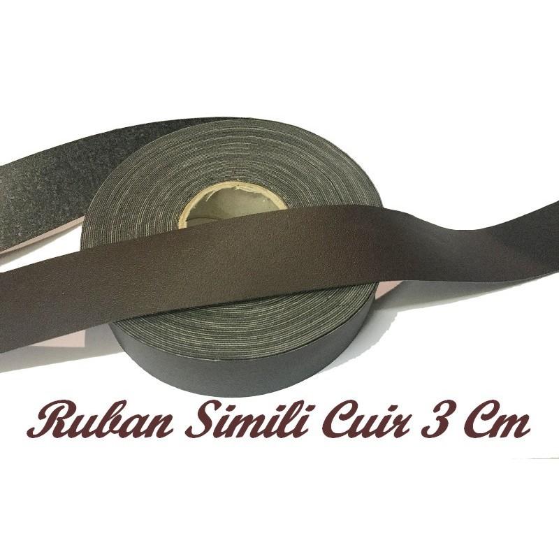 Ruban Simili Cuir Au Mètre En 3 Cm Mat Noir A Coudre Pour Vetements Décorations