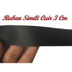 Ruban Simili Cuir Au Mètre En 3 Cm Mat Couleur Marron A Coudre Pour Vetements Décorations
