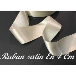Ruban Satin Au Mètre En 40 mm iVOIRE A Coudre Pour La Décoration Et Loisirs Créatifs