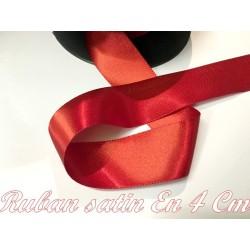 Ruban Satin Au Mètre En 40 mm Rouge A Coudre Pour La Décoration Et Loisirs Créatifs