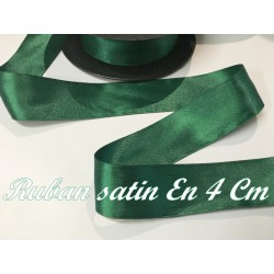 Ruban Satin Au Mètre En 40 mm Vert A Coudre Pour La Décoration Et Loisirs Créatifs
