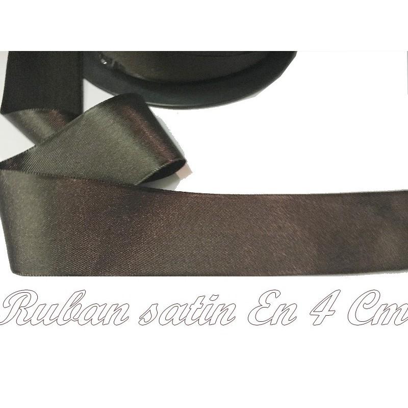 Ruban Satin Au Mètre En 40 mm Couleur Marron A Coudre Pour La Décoration Et Loisirs Créatifs