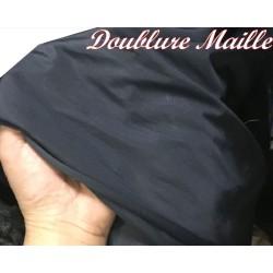 Doublure Maille Au Mètre En Couleur Marine Pour Vetements Tansparents Et confections.