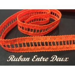 Galon Entre deux Au Mètre Orange Fluo En Jour Echelle de 2 cm A Coudre Pour Vetements coudre