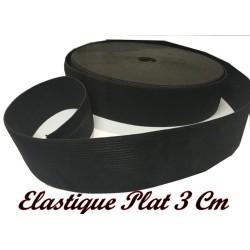 Elastique Plat Au Mètre en 30 mm Noir Pour La Couture
