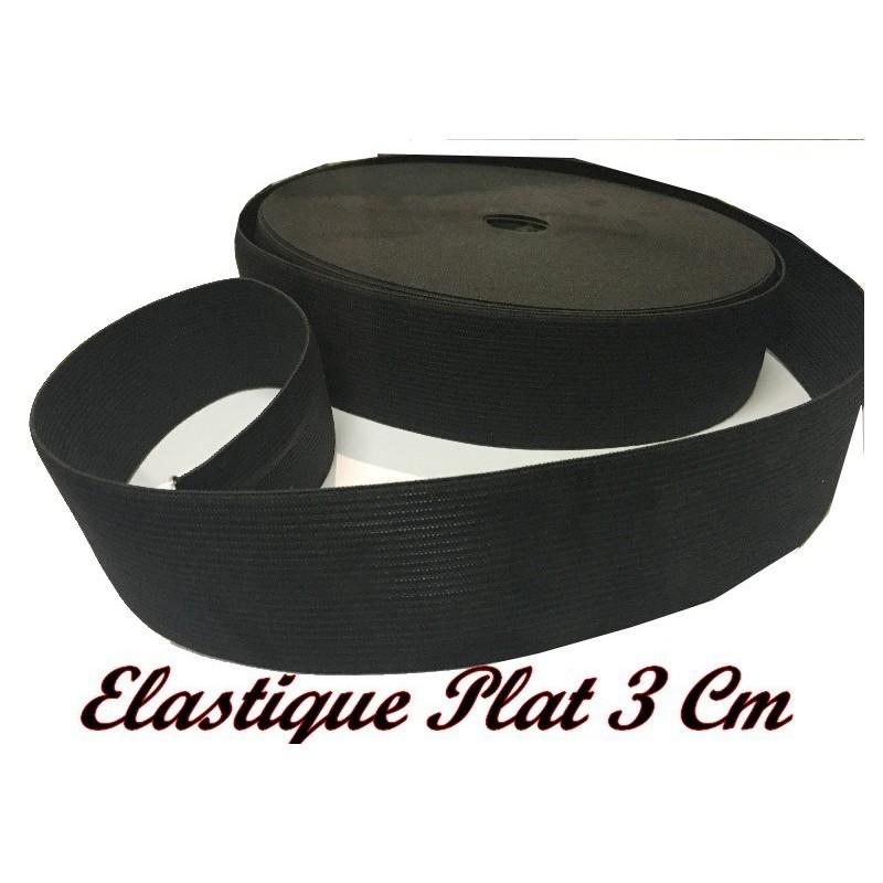 Elastique Plat Au Mètre en 40 mm Noir Pour La Couture