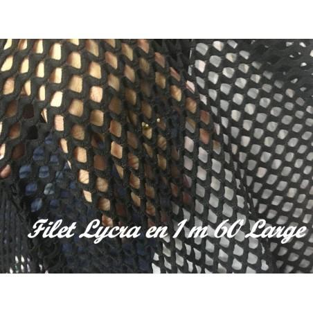 Tissu Filet Lycra au Mètre Noir en 1 m 60 de Largeur Pour Danse Et Lingerie.