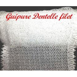 Tissu Guipure Au Mètre En Grande Largeur Blanc Pour Loisirs Créatifs.