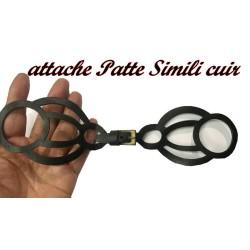 Patte Kilt Attache En Simili Cuir Ajouré Couleur Noir A Coudre Pour Décorations Robes, sacs, Customisations.