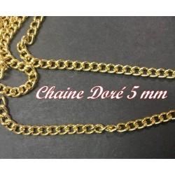 Ornement Chainette Doré Au Mètre En 5 mm Pour Lingerie et Customisations.