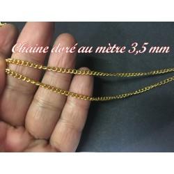 Chainette Doré Au Mètre En 3,5 mm Pour Lingerie et Customisations.