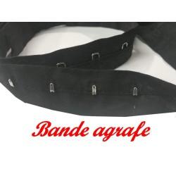 Bande Agrafes Au Mètre Noir En Tissu A Coudre, Pour Agrafages Corsets, Lingerie Et Loisirs Créatifs.