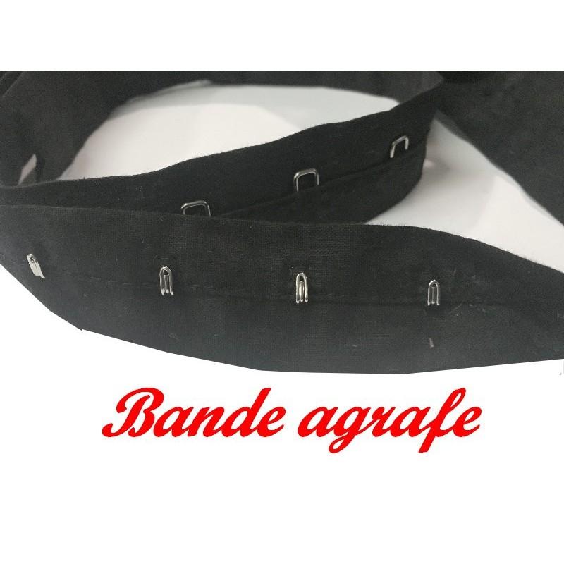 Bande Agrafes Au Mètre Noir En Tissu A Coudre, PourAgrafages corsets, Lingerie Et Loisirs créatifs.