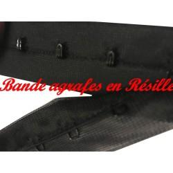 Bande Agrafes Sur Tulle Résille Noir Au Mètre En Tissu A Coudre, Pour Agrafages corsets, Lingerie Et Loisirs créatifs.