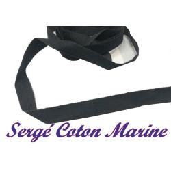 Ruban Sergé En 10 mm Bleu Marine En coton A Coudre Pour Loisirs Créatifs Et Décorations.