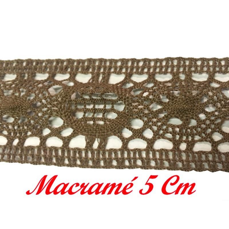 Galon Dentelle Macramé En 5 cm Beige A Coudre.