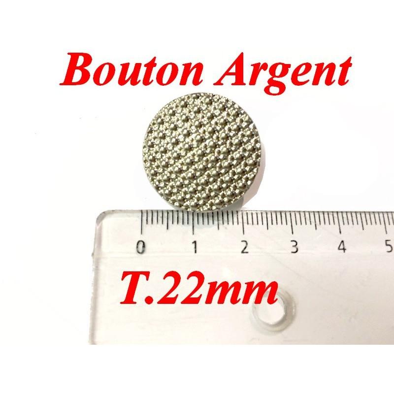 Bouton Argent En Taille 22 A Coudre Pour Vetements Et Customisations