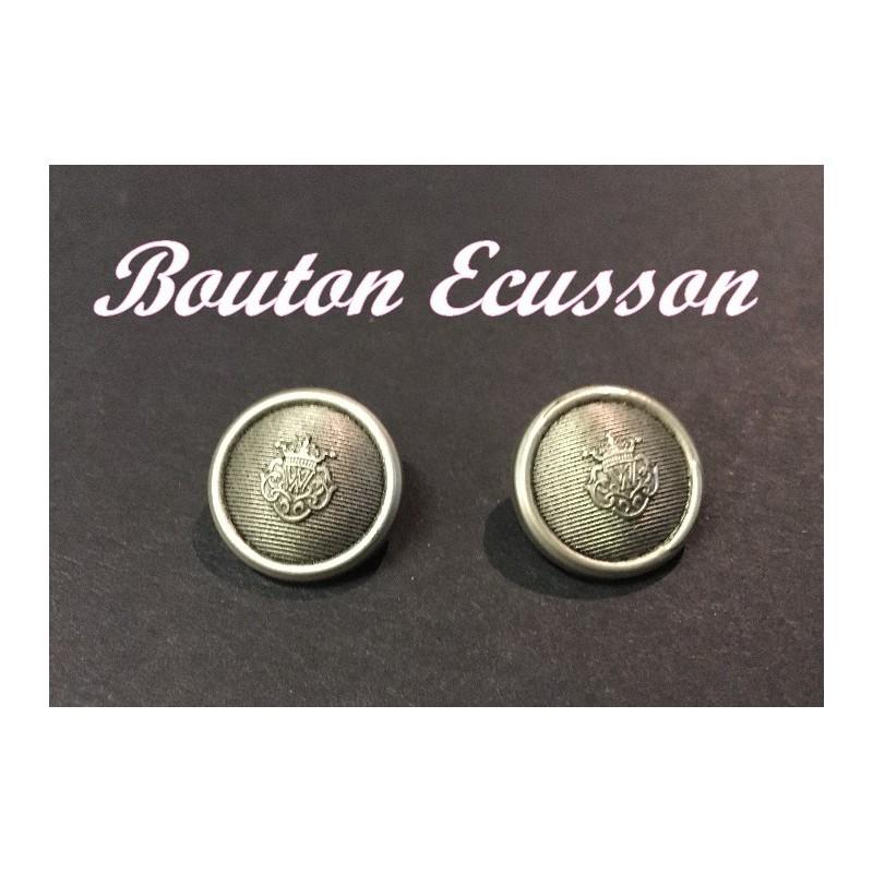 Bouton Ecusson En Argent En Taille 22 A Coudre Pour Vetements Et Customisations
