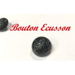 Bouton Ecusson En Noir Verni En Taille 20 mm A Coudre Pour Vetements Et Customisations