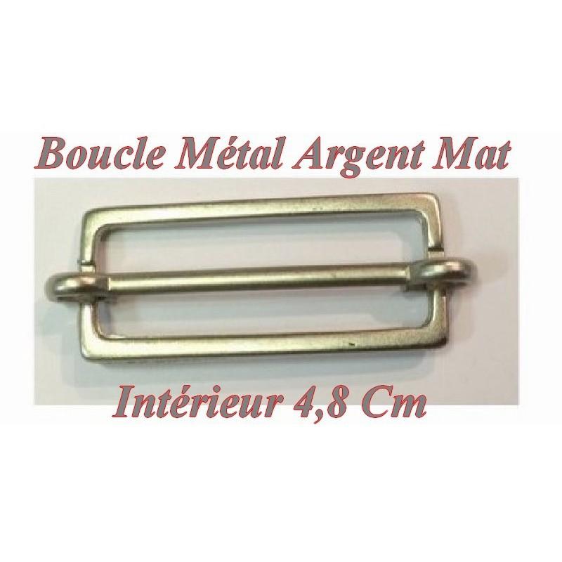 Boucle Coulissante en 4.8 cm Nikel Argent Mat
