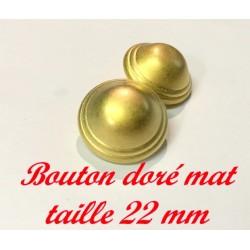 Bouton Doré En Demi-Boule A Coudre En Taille 22 mm Pour Vestes, Tailleurs Et Customisations De vetements