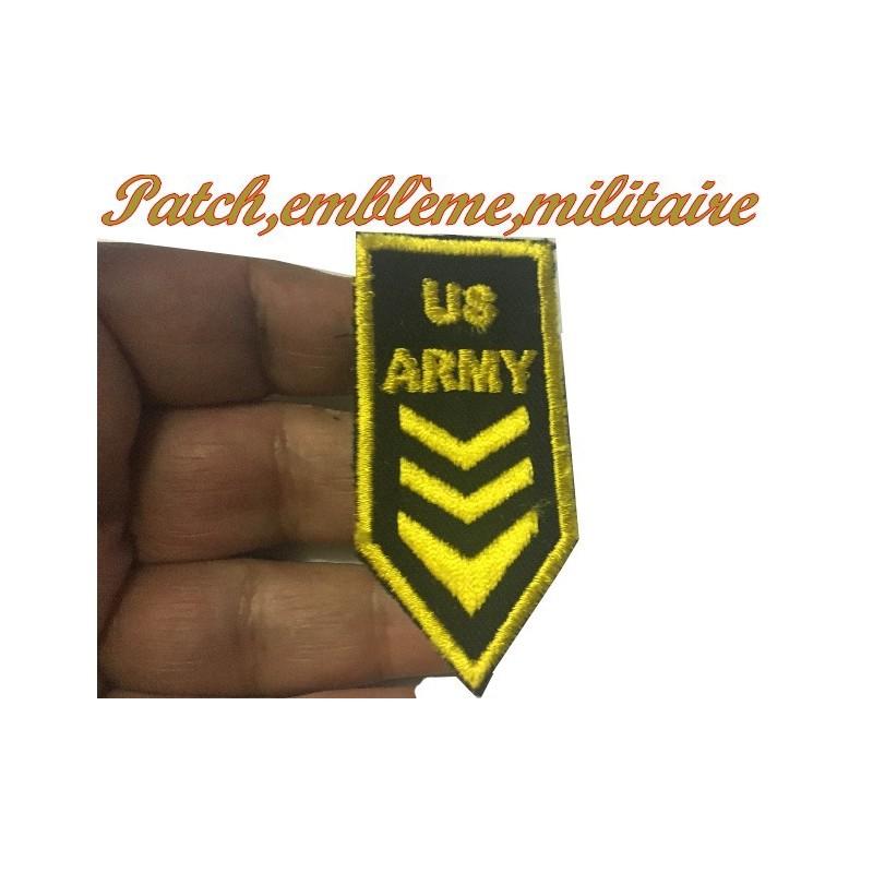 """Ecusson EPaulette Emblème Militaire"""" US .ARMY """" A Coudre."""