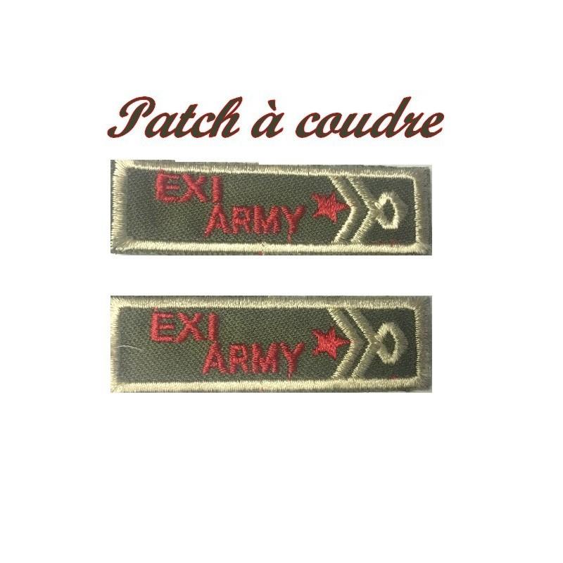 """Ecusson patch Emblème Militaire"""" EXY .ARMY """" A Coudre."""