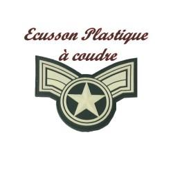 Ecusson EPaulette Emblème Militaire 1 Etoiles En Plastique A Coudre.