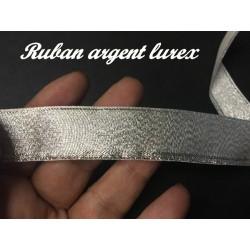 Ruban Lurex Au Mètre En Argent De Largeur 15 mm A Coudre Pour Loisirs Créatifs Et Décorations.